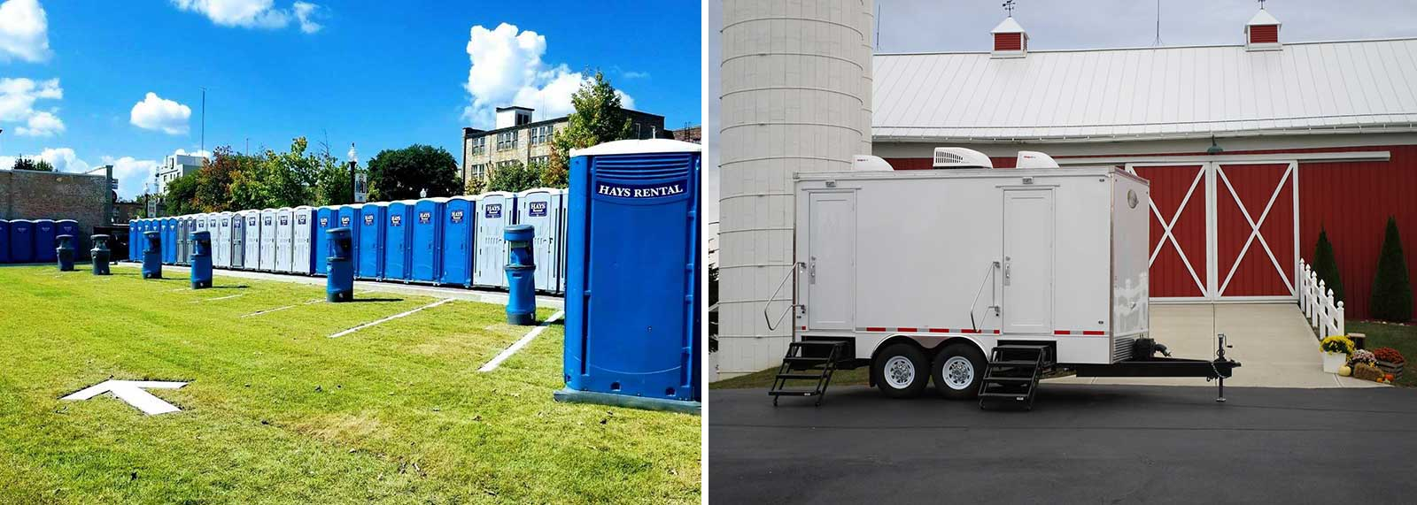 Rent portable restrooms in South Central Arkansas