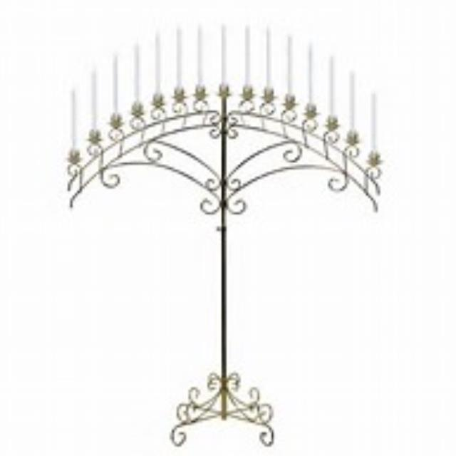Where to find WEDDING, CANDELABRA, FAN 15 LIGHT, BRASS in El Dorado