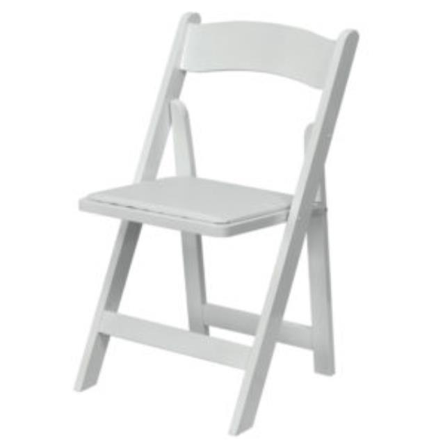 Where to find CHAIR, FOLDING WHITE in El Dorado